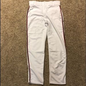 -Adult Men's Gator Brand Softball Pants White L/XL